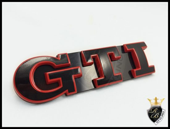 GTI Emblem rot schwarz Kuehlergrill Golf 7 RB Styling rbstyling